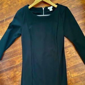 BLACK J.CREW SEXY BOSS DRESS fitted petite stretch